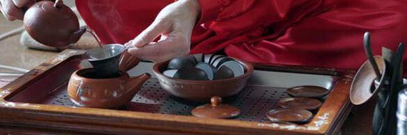 Ein Foto einer Teezeremonie