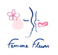 femme fleurs logo