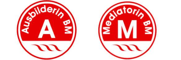 rote logos. ausbilderin und mediatorin BM
