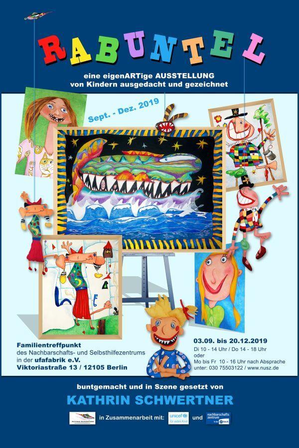 Flyer für die Rabuntel Ausstellung
