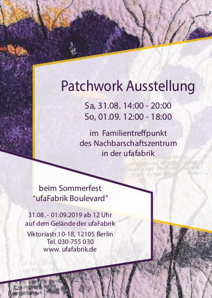Flyer der Patchwork Ausstellung