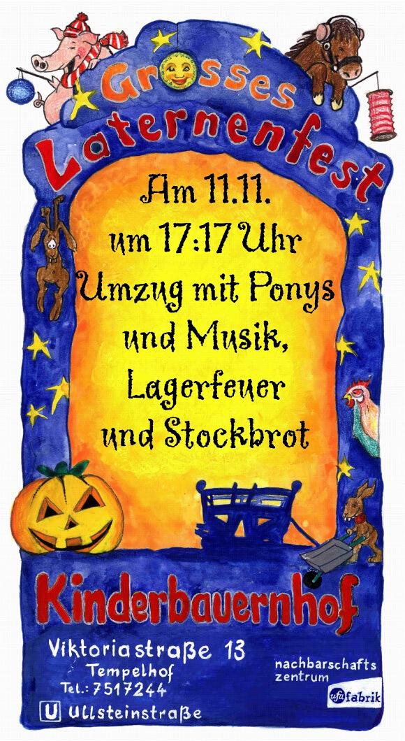 Flyer für das Laternenfest