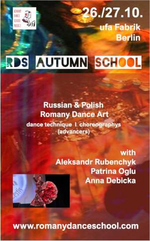 Flyer für die Romany Dance School
