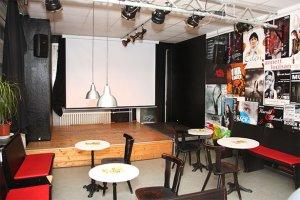 Cafe mit Bühne in der Spirale